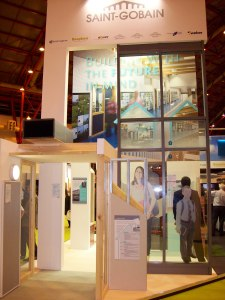 Saint-Gobain booth at Ecobuild 2010
