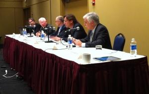 (Left to right) Rob Fleming; Dennis Wilde; Alain Garnier; Mark Stancroff; Jeff Wolfe