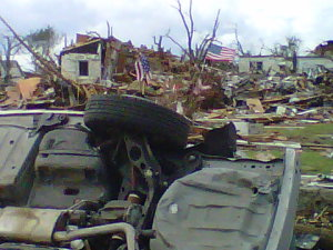 Aftermath of Joplin tornado