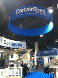 CertainTeed booth at IBS 2013