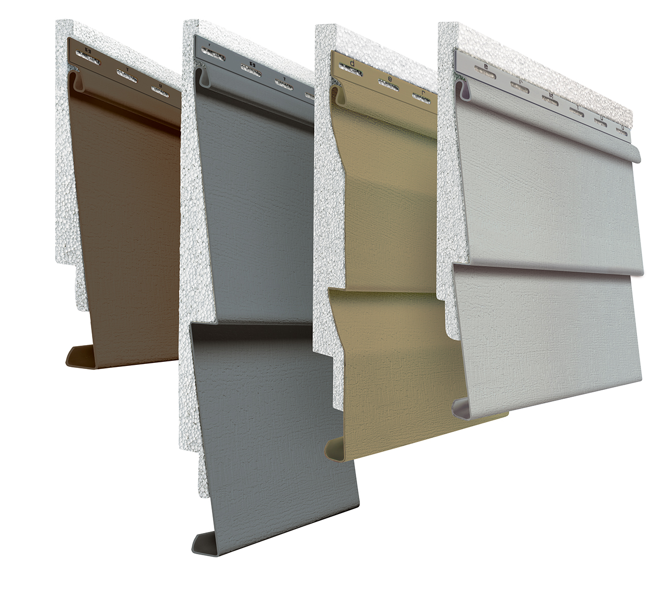 Insulated siding has rigid foam insulation attached to its back.