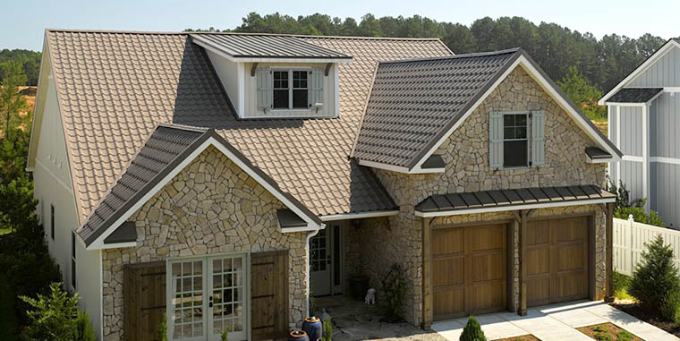 Like the look of Spanish tile but not the maintenance? Try Matterhorn® metal roofing in English Toffee tile.
