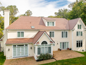 Villanova PA home with a metal roof
