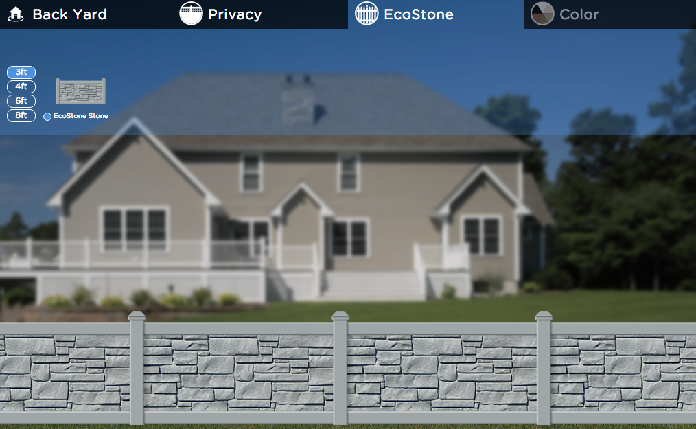 CertainTeed FenceIt tool helps homeowners visualize their yard with a fence in it.