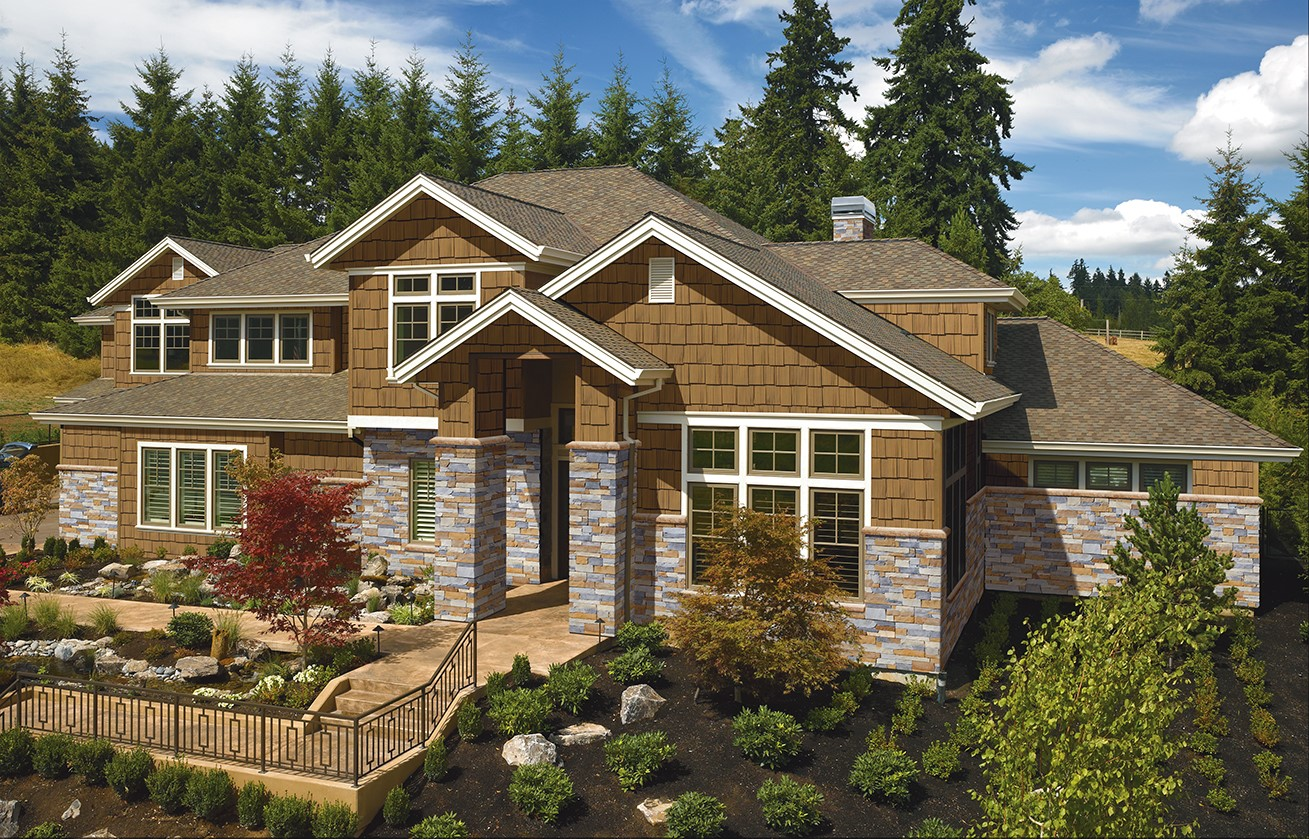 Use stone accents that match the exterior of your home for a beautiful look and lots of curb appeal.