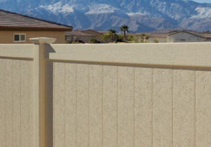 personalize your fence with the look of stone or stucco