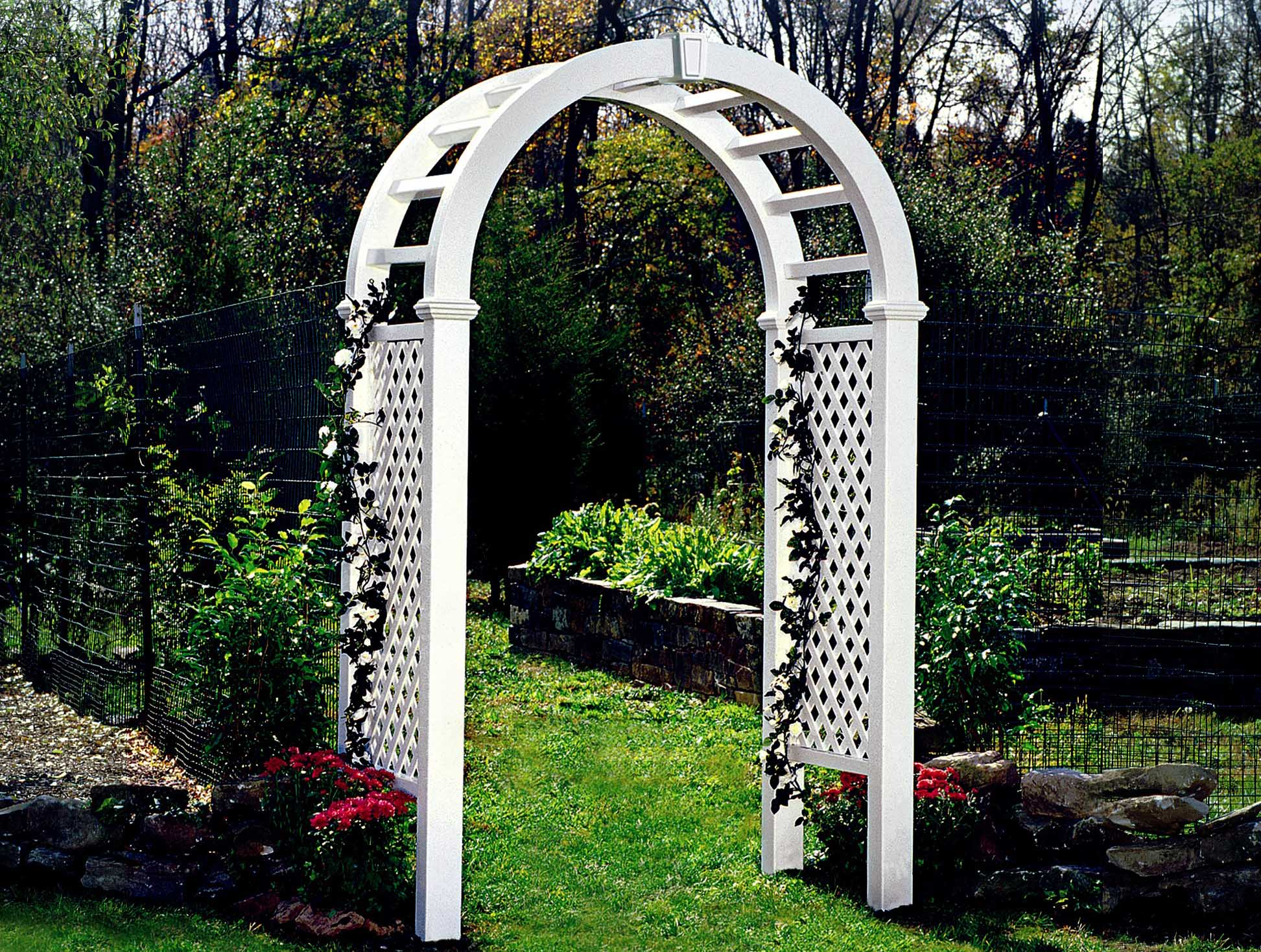 An arbor can be a tasteful focal point of a yard or outdoor space