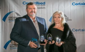 CertainTeed Gypsum trophy awards honors the exceptional work of drywall contractors in the US and Canada