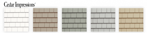 New colors CertainTeed Cedar Impressions siding