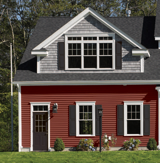 Colorful CertainTeed Siding Mix and Match Gable