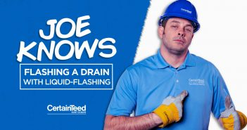 Joe Knows Flashing a Drain with Liquid Flashing